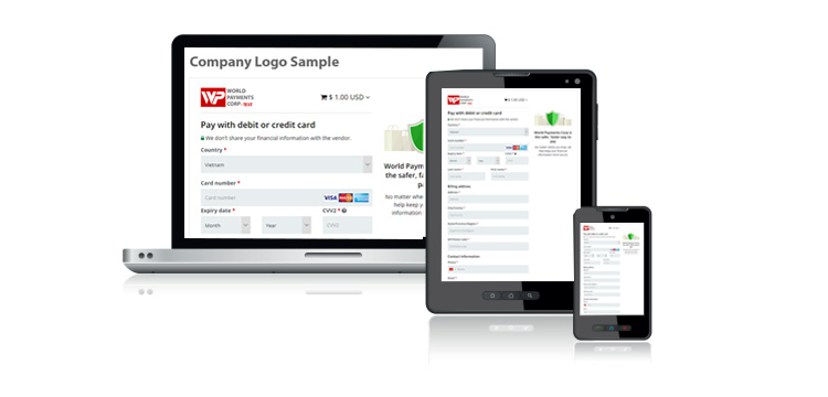 Mobile and Tablet payment page